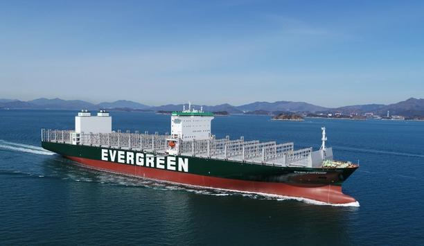Evergreen Line delivers their new class F-type containership Ever Fortune to the Geoje shipyard of Samsung Heavy Industries