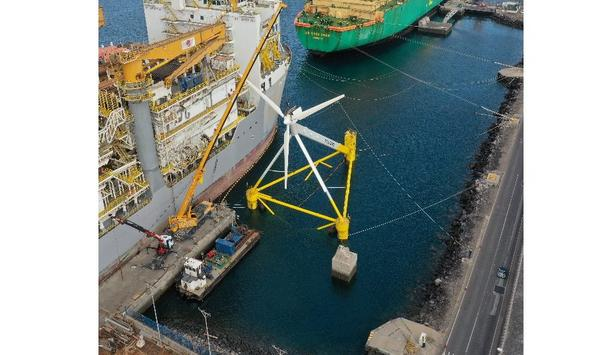 X1 Wind completes rotor assembly for pioneering 'downwind' floating platform