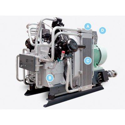 Sauer Compressors WP 460 L Marine 3-stage Air-cooled Starting-air Compressor