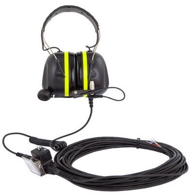 Zenitel P-6035/10 Headset with 10-meter Cable