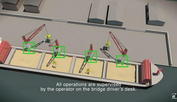 MacGregor explains the working of their Autonomous Discharging Crane